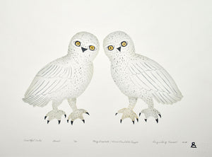 Beautiful Owls by May Lonsdale inuit art