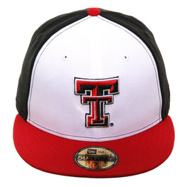 Exclusive New Era 59Fifty Texas Tech Red Raiders Rail Hat - White, Black, Red