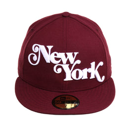 Exclusive 59Fifty New York Fancy Hat - Maroon, White