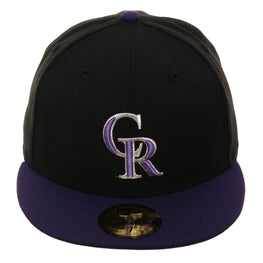 Exclusive New Era 59Fifty Colorado Rockies w/ Gray Undervisor Alternate Hat - 2T Black, Purple
