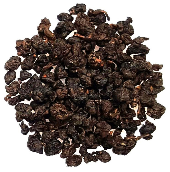 Ali Shan Tie Guan Yin dark, tightly rolled Taiwanese Oolong
