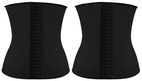 2x Regular Latex Waist Trainer Pack - Black