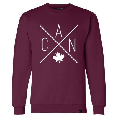 Made in Canada - CAN Crewneck Sweatshirt - Unisex - Maroon