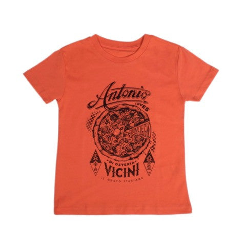 Shirt pizza oranje