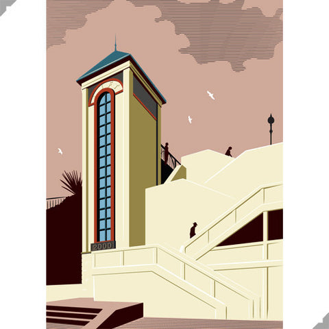 Broadstairs Millennium Lift by Andy Tuohy (Limited Edition Print)