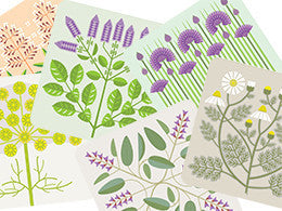 Gillian Blease Herb table mats by Jenny Duff