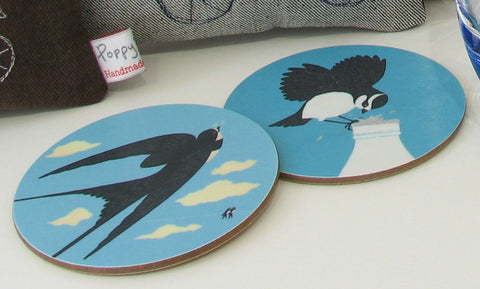 Animal & Bird design coasters by Jenny Duff