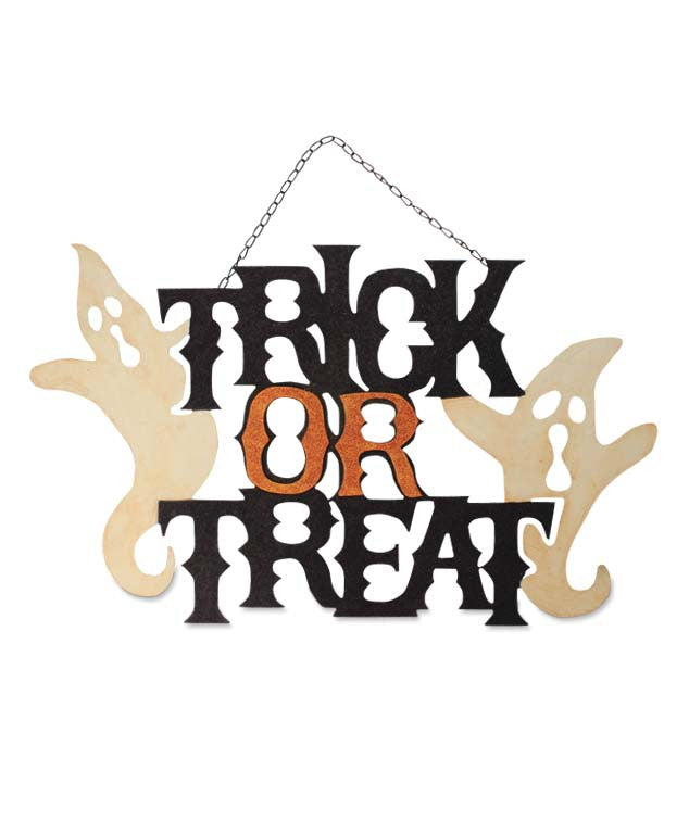 Spooky Trick Or Treat Sign