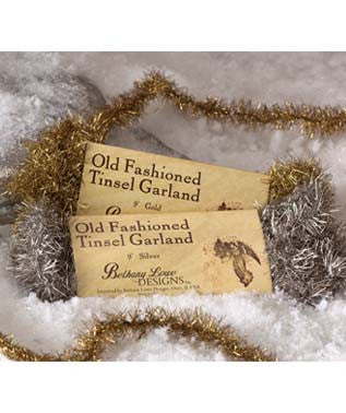 Old Fashioned Tinsel Garland - Silver