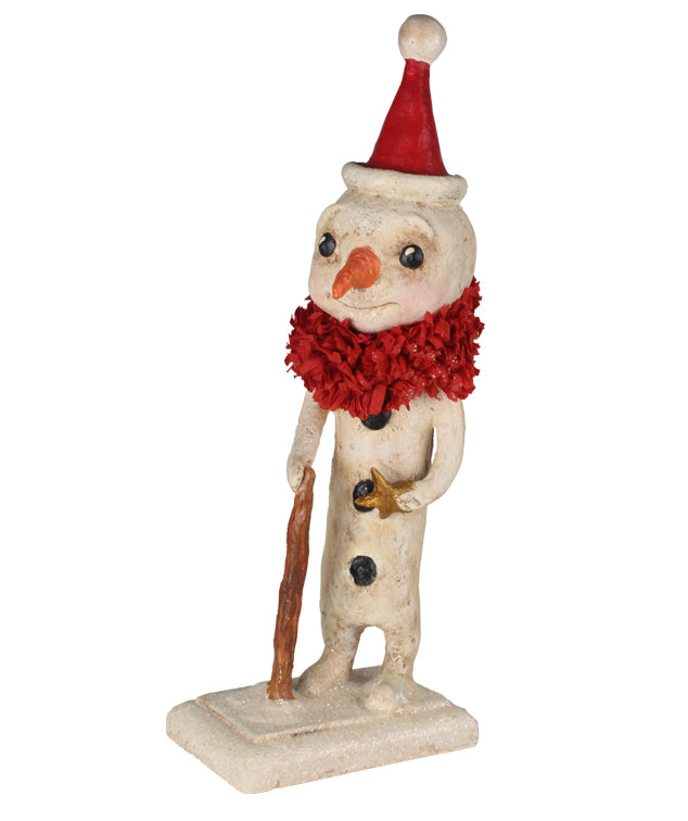 Debra Schoch Santa Snowman with Star Figurine