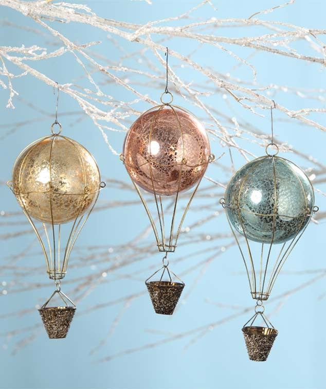 Bethany Lowe French Hot Air Balloon Ornaments