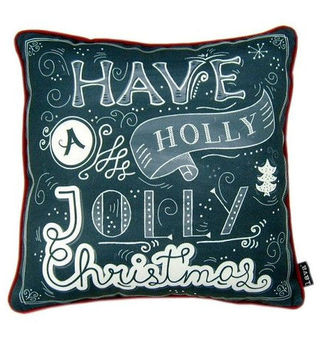 Have a Holly Jolly Christmas Chalkboard Pillow