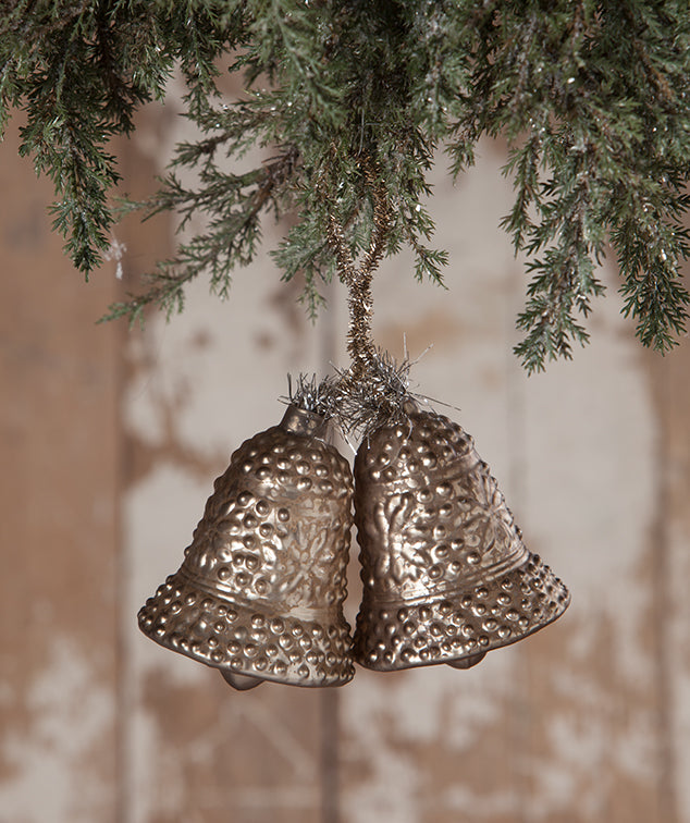 Bethany Lowe Pewter Bell Ornament