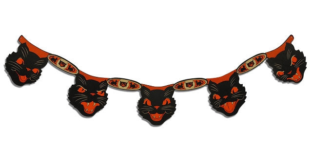 Sassy Cat Garland | Retro Halloween Decorations