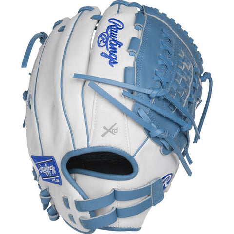 "Liberty Advanced - White | Columbia Blue 12.5"" Fastpitch Outfield Glove RLA125-18WCB"