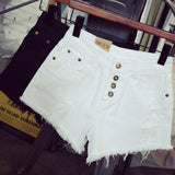 Women'S Vintage High Waist Jeans Hole Denim Shorts