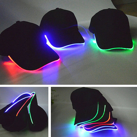 Personality LED Light Up Hip hop Cool Baseball Cap Hat