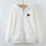 Cute deer hooded zipper sweater