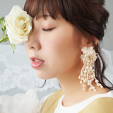 HFC - 879 Natural Pompom Single Earring (Individual)