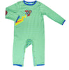 Baby Onesie - Albetta Rocket Baby Grows - Green, 0-12 Months
