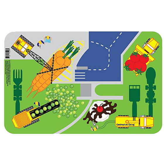 Kids Placemat - Constructive Eating Construction Placemat - Green