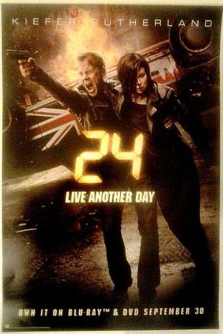 "24 LIVE ANOTHER DAY Promo FOX 13.5""x20"" TV Poster SDCC 2014 Kiefer Sutherland - redrum comics"