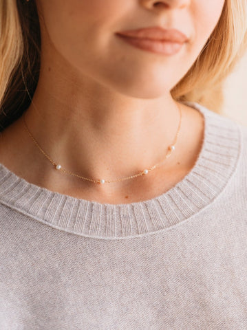 Halcyon Necklace // Pearl