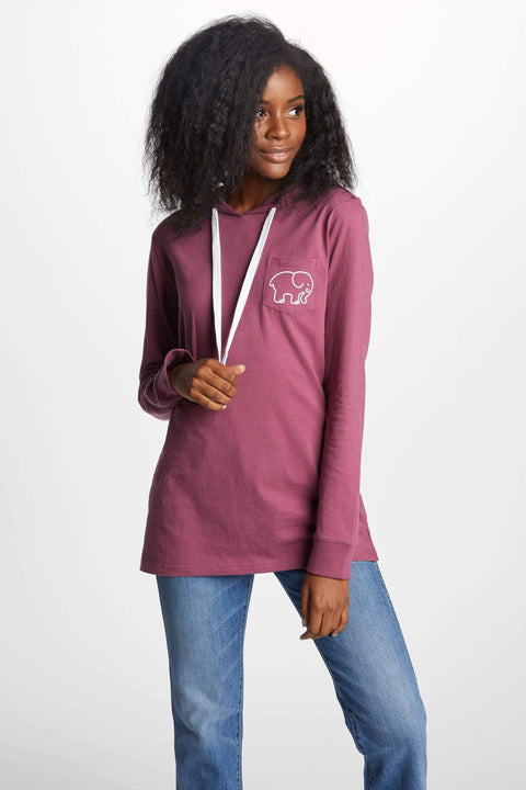 Ivory Ella T-Shirt Hoodies XS Ella Fit Dusty Lavender Tee Shirt Hoodie