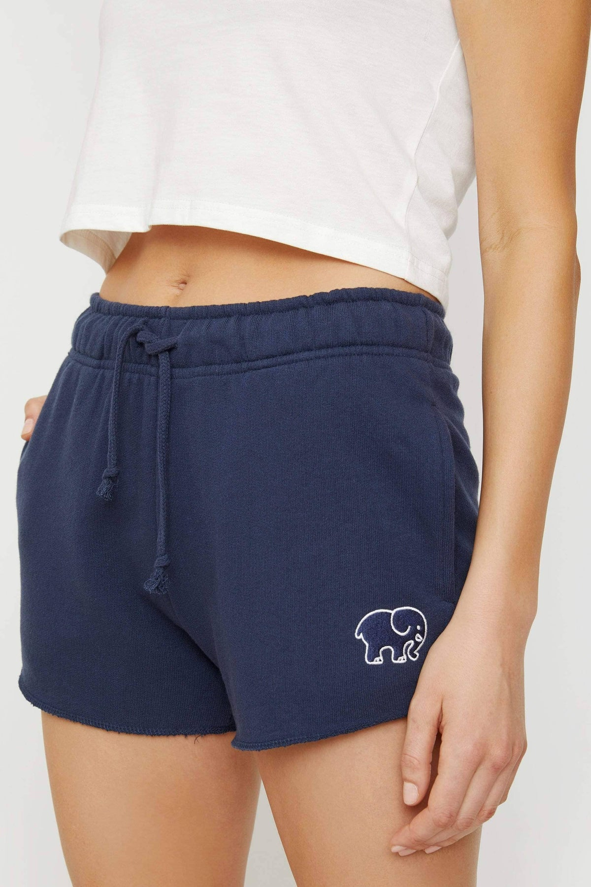 Ivory Ella Women's Bottoms XS Navy Organic French Terry Short