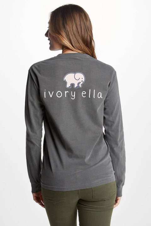 Ivory Ella Women's Long Sleeve Shirts Classic Fit Pepper Signature Logo