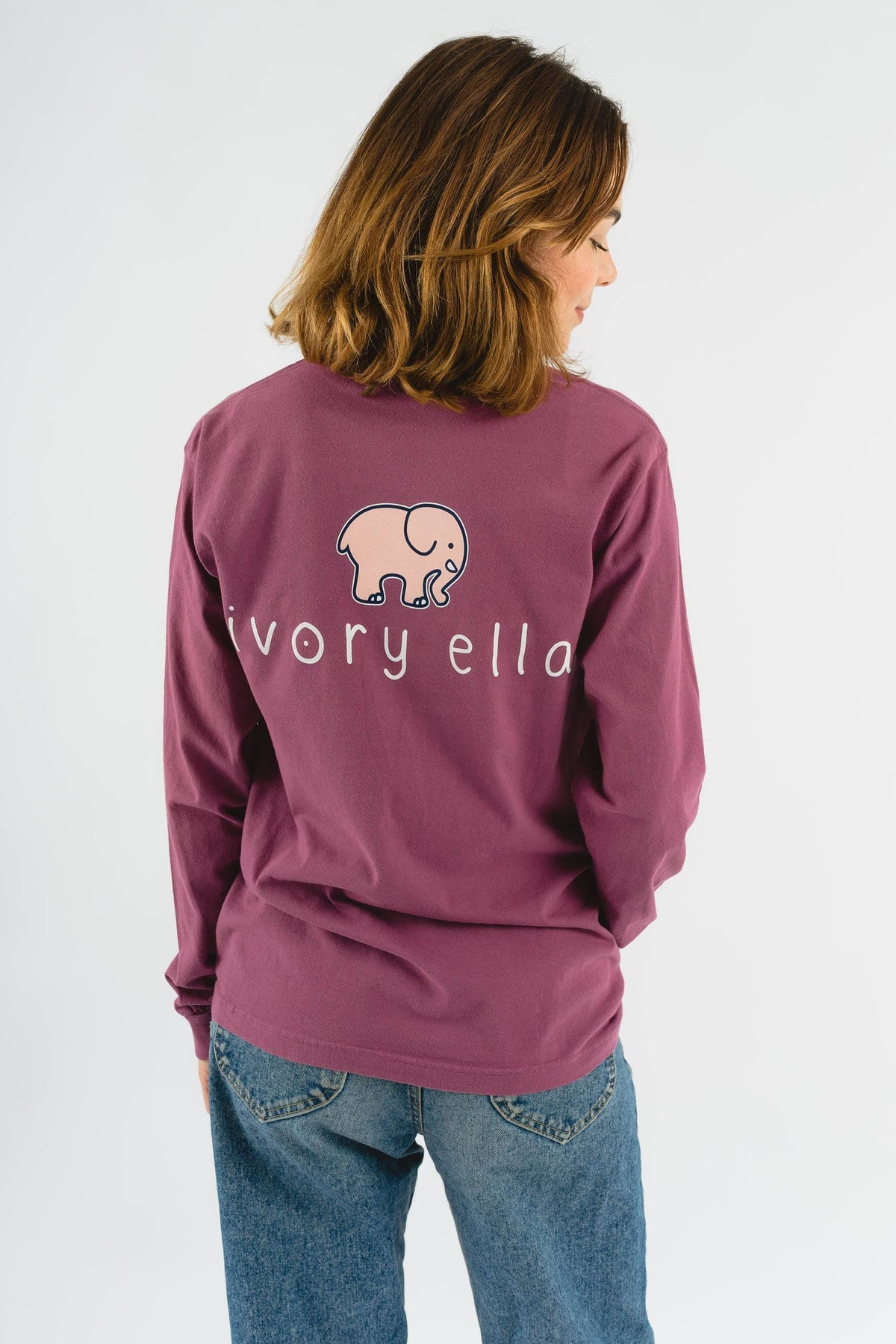 Ivory Ella Women's Long Sleeve Shirts S Classic Fit Berry Signature Logo