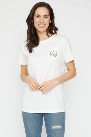 Ivory Ella Women's Short Sleeve Tees XXS Ella Fit Soft White Mother's Day Tee
