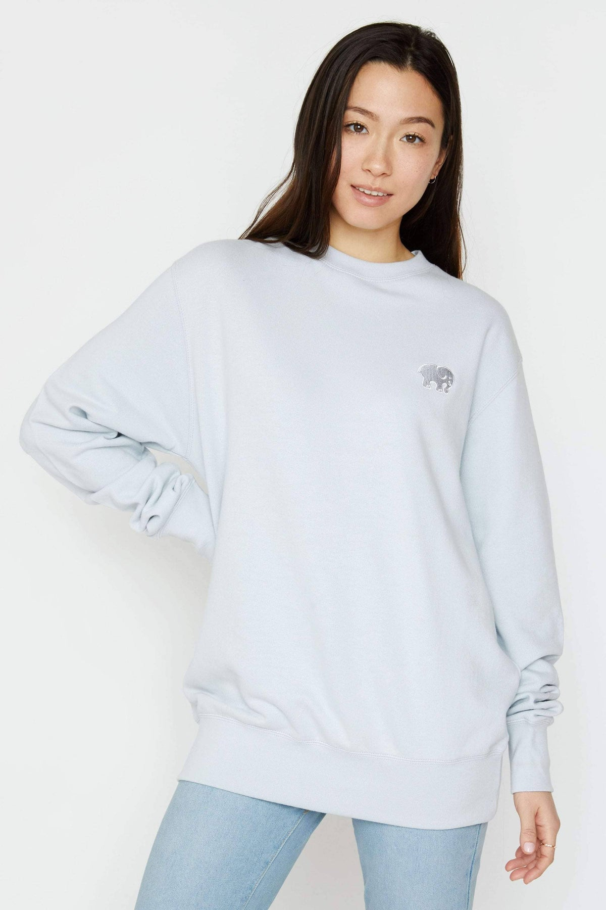 Ivory Ella Women's Sweatshirts XS Moonstone Organic French Terry Crewneck