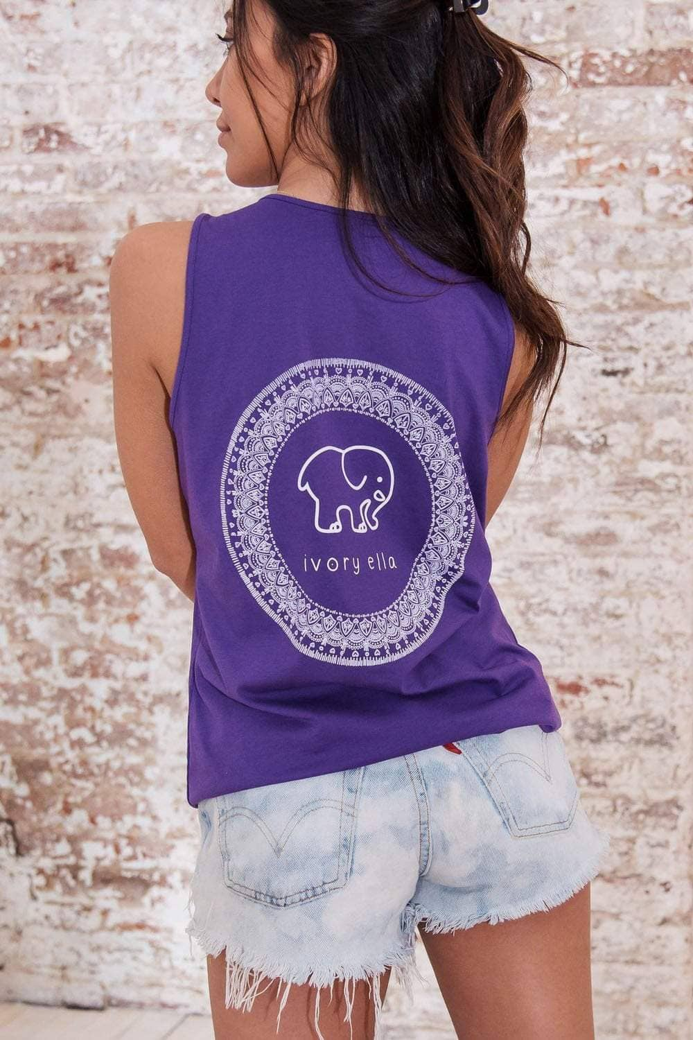 Ivory Ella Women's Tanks XXS Passion Purple Samburu Circle Tank