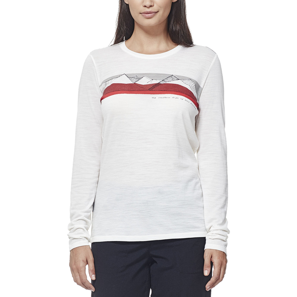 Icebreaker Women's Tech Lite Long Sleeve South Alps Snow