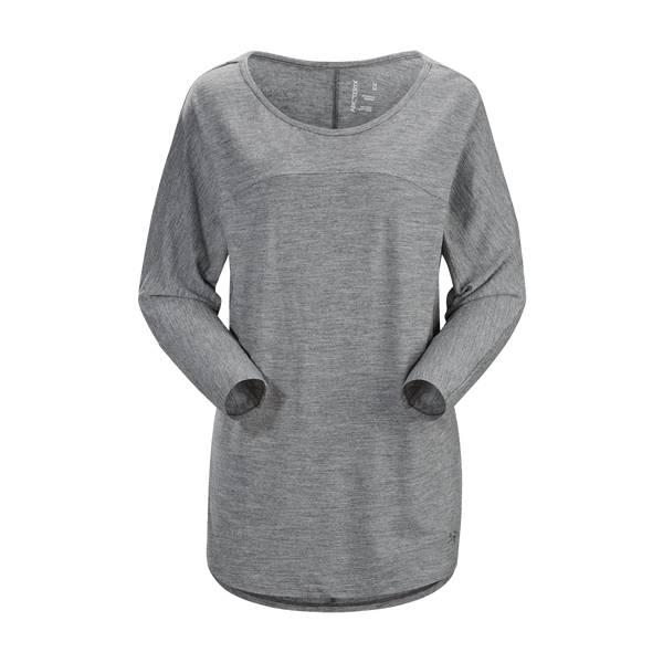 Arc'teryx Women's Joni 3/4 Sleeve Top Dark Grey Heather