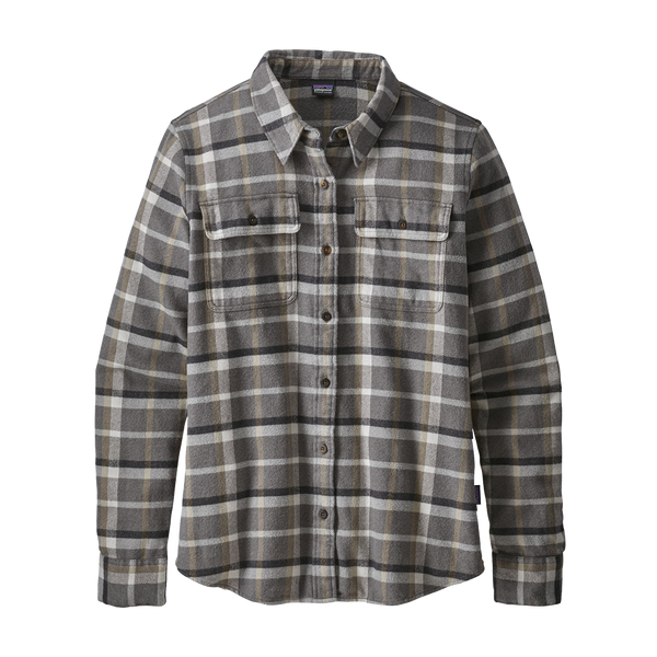 Patagonia Women's Long Sleeve Fjord Flannel Forge Grey