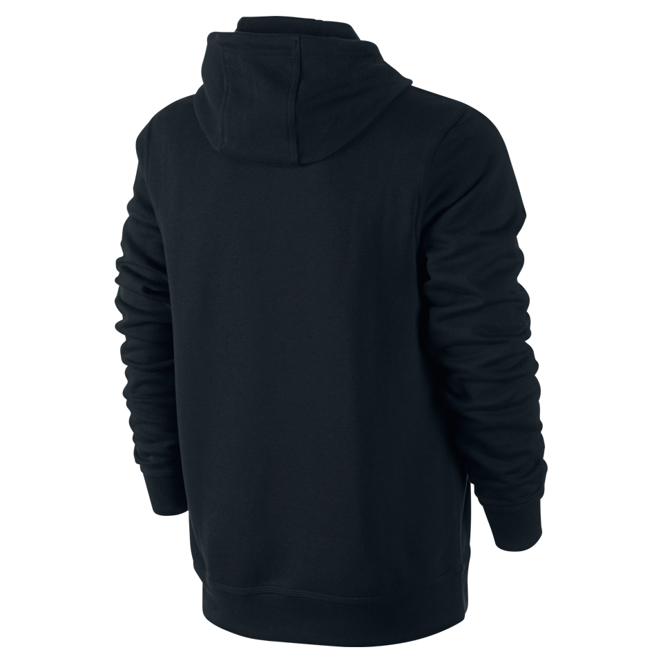 Nike Men's Club Swoosh Hoodie Black/White