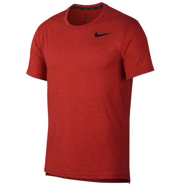 Nike Men's Dri-FIT Breathe Short-Sleeve Training Top Mystic Red