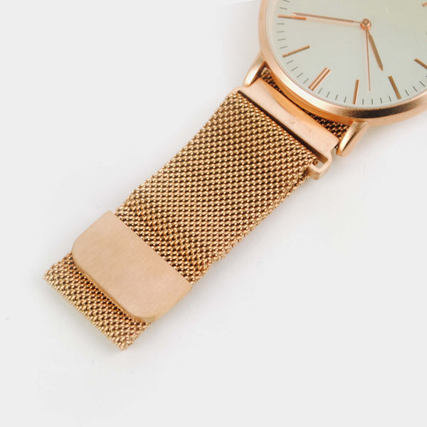 Reloj rose gold ajustable con imán