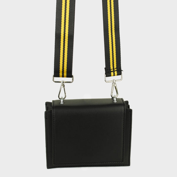 Bolsa cruzada rectangular color negro