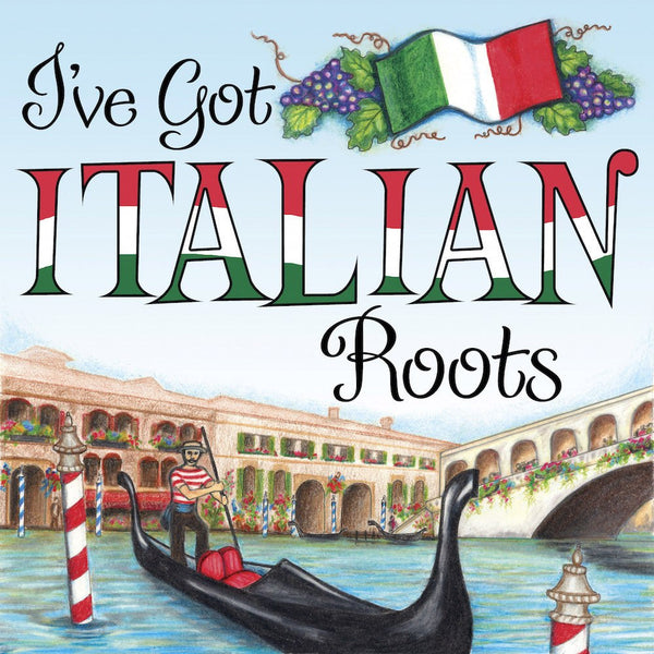 Italian Gift Ideas: Italian Roots Magnet Tile - GermanGiftOutlet.com  - 1