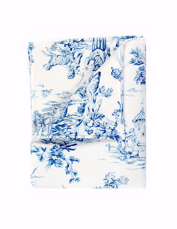 Large Blanket in Toile Cotton