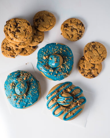 4 Pack - Raised Doughnut - Cookie Monster w/ Chips Ahoy