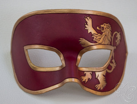 GoT Lannister Large Leather Mask - Hear Me Roar