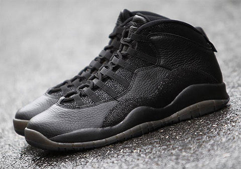 AIR JORDAN 10 (BLACK / GOLD - OVO - DRAKE)