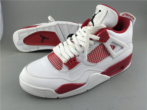 AIR JORDAN 4 (WHITE / VARSITY RED ALTERNATE '89)