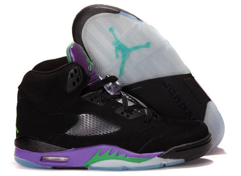 AIR JORDAN 5 (BLACK/NEW EMERALD-GRAPE-BLACK)
