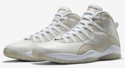 AIR JORDAN 10 (WHITE / GOLD - OVO - DRAKE)