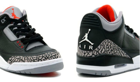 AIR JORDAN 3 (BLACK/ CEMENT GRAY)